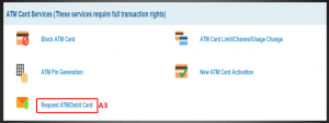 How to apply for SBI ATM card through net banking