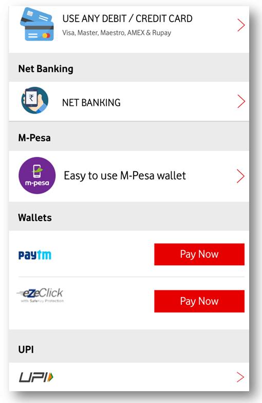 Vodafone Postpaid Bill Payment
