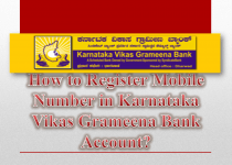 How to Register Mobile Number in Karnataka Vikas Grameena Bank Account