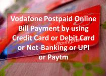 Vodafone Postpaid Online Bill Payment